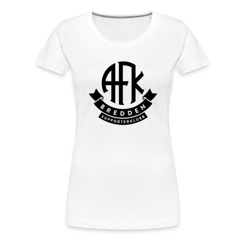 bredden-logo-1farge - Premium T-skjorte for kvinner