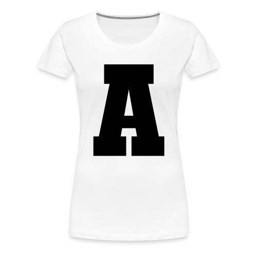 A - Grossbuchstabe einzeln, fett und serifenbetont - Frauen Premium T-Shirt