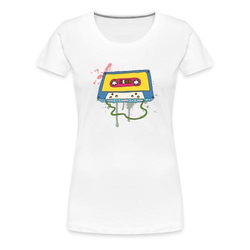 Musik Kassette Walkman Magnettonband Retro Vintage - Women's Premium T-Shirt