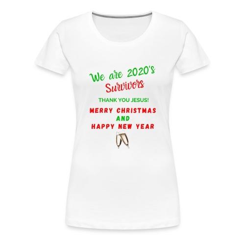 We are 2020 Survivors Merry Christmas - T-shirt Premium Femme