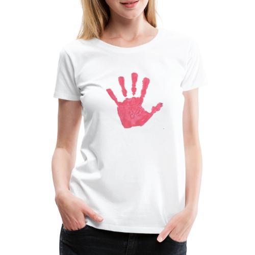 Hand - Premium-T-shirt dam