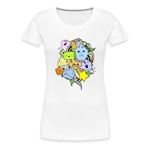 Doodle Art - Camiseta premium mujer