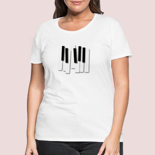 Klaviatur - Premium-T-shirt dam