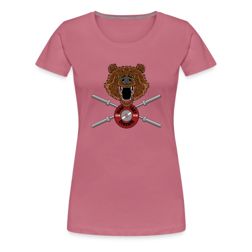 Bear Fury Crossfit - T-shirt Premium Femme