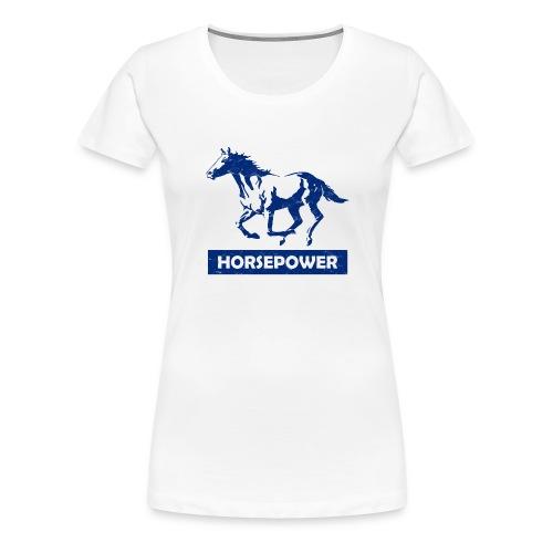 Galoppierendes Pferd Horsepower (Blau) - Frauen Premium T-Shirt