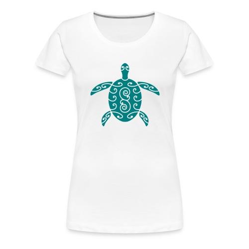 Schildkröte mit Muster 1 - Frauen Premium T-Shirt