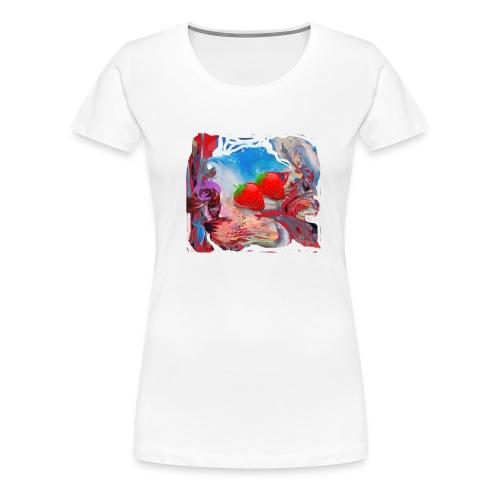 Wilde Erdbeeren - Frauen Premium T-Shirt