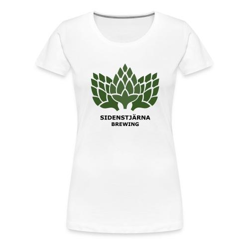 Mörk Logotyp - Premium-T-shirt dam