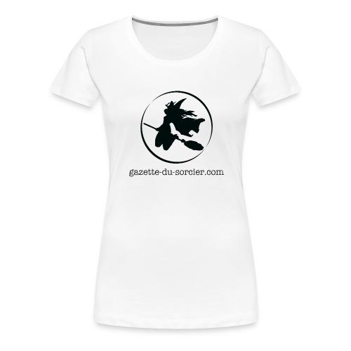 T-shirt logo Gazette - T-shirt Premium Femme