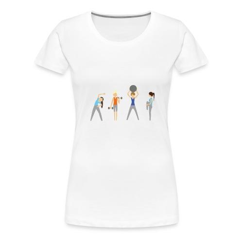 Fitmamuśka - Plecak Czarny - Koszulka damska Premium