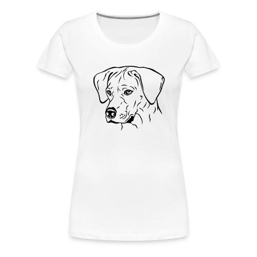 Rhodesian Ridgeback Hündin Kopf schwarz - Frauen Premium T-Shirt