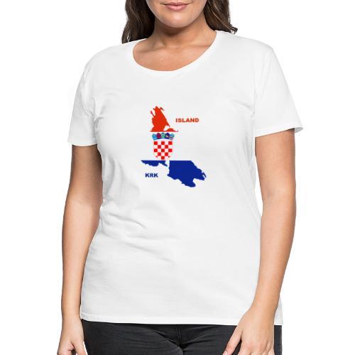 Krk Kroatien Adria Urlaub - Frauen Premium T-Shirt
