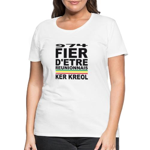 974 ker kreol fier et culture - T-shirt Premium Femme