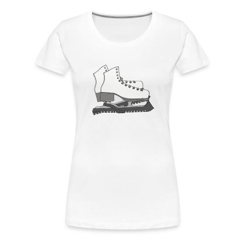 skates, skridskor - Premium-T-shirt dam