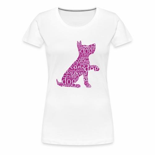 Lustiger Hund Schriften - Frauen Premium T-Shirt