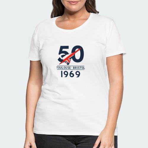 Concorde 50th Anniversary - Women's Premium T-Shirt