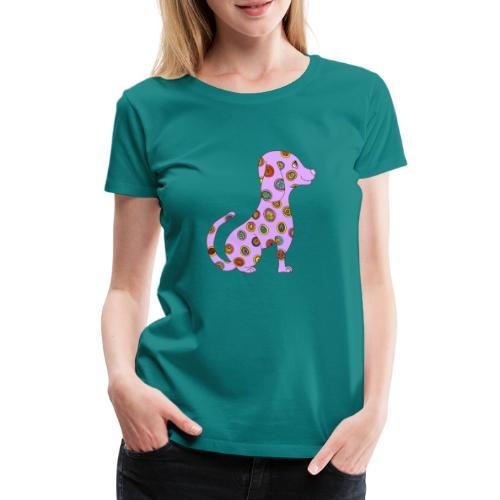 Le chien fleuri - T-shirt Premium Femme