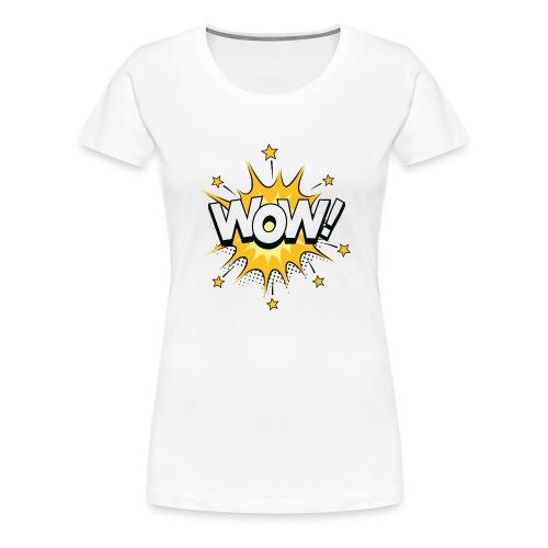 Bulle dialogue Bande dessinée WOW - T-shirt Premium Femme