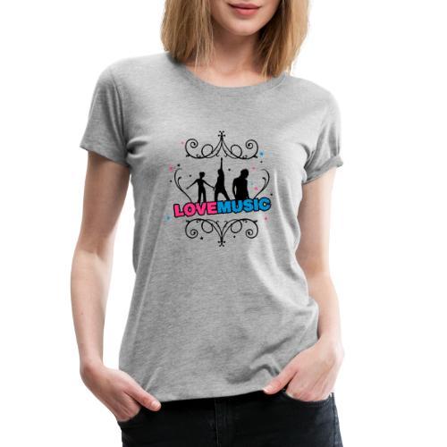 Motif Love Music - T-shirt Premium Femme