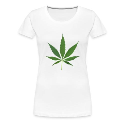 2000px-Cannabis_leaf_2 - Dame premium T-shirt