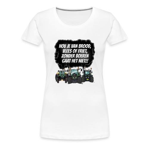 boeren tshirt F - Vrouwen Premium T-shirt