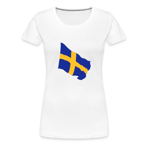 Flagge Schwedenflagge flatternd, Sweden Sverige - Frauen Premium T-Shirt