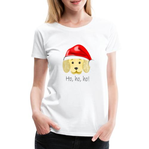 Santa dog - Frauen Premium T-Shirt
