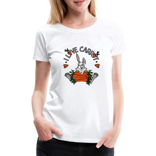 Lapin, Kaninchen, Coniglio, Humour, Legumes, Vegan - T-shirt Premium Femme