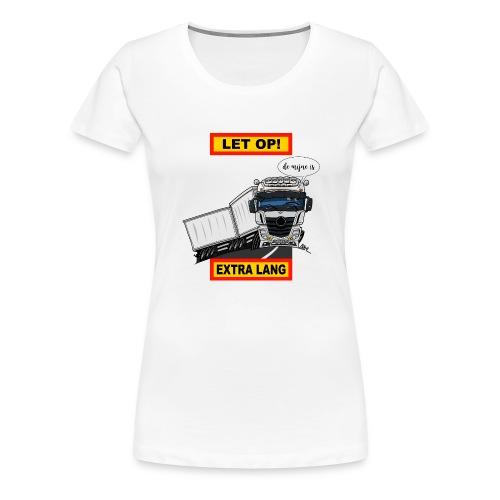0850 extra lang - Vrouwen Premium T-shirt