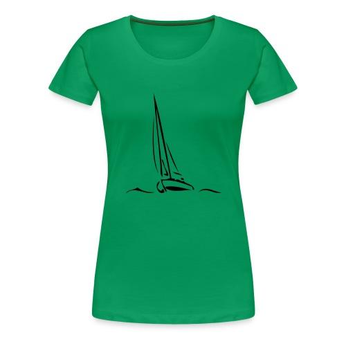 Segelboot - Frauen Premium T-Shirt