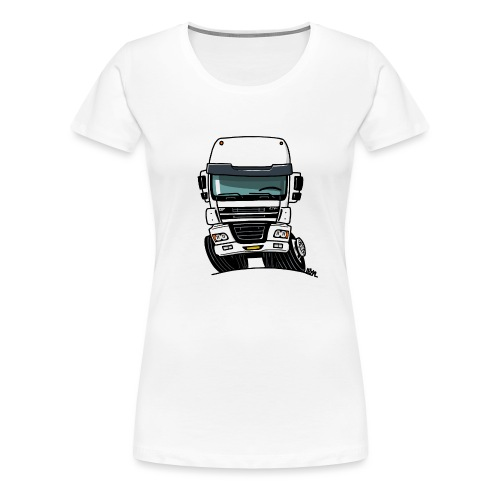 0810 D truck CF wit - Vrouwen Premium T-shirt