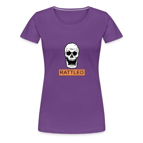 Rattled Spooky Halloween Skeleton Meme - Women's Premium T-Shirt