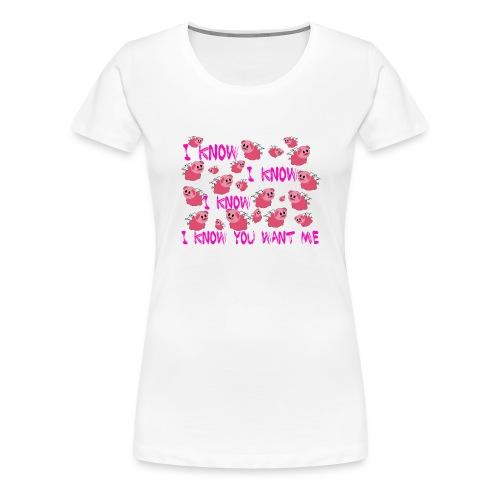 SWINE unisex - Camiseta premium mujer