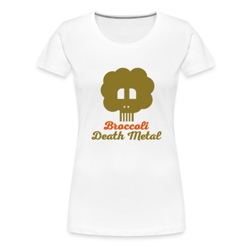 broccoli_death_metal_-10--ai - Frauen Premium T-Shirt
