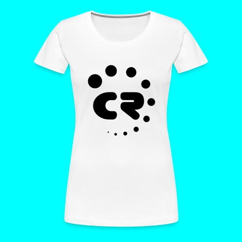 CR black white - Women's Premium T-Shirt