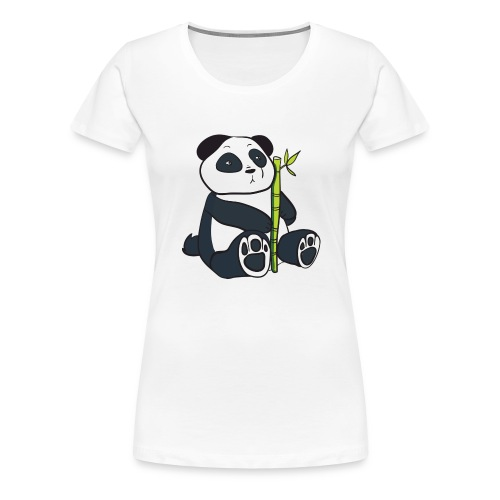 Oso Panda con Bamboo - Camiseta premium mujer