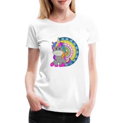 Unicorno Mandala - Maglietta Premium da donna