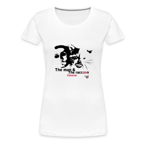T-shirt_ManVsRaccoon01 - T-shirt Premium Femme