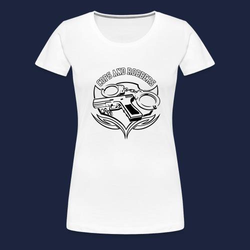 raglan CxR tee with large back logo - Women's Premium T-Shirt