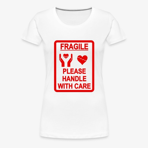 corazón frágil - Camiseta premium mujer