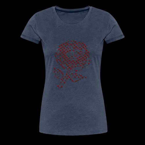Rose aus Rosen - Frauen Premium T-Shirt