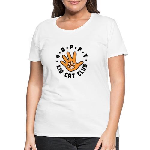 Happy Kid Cat Club Logo - Frauen Premium T-Shirt