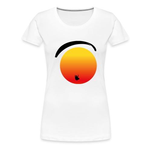Paragleiter im Sonnenuntergang - Frauen Premium T-Shirt