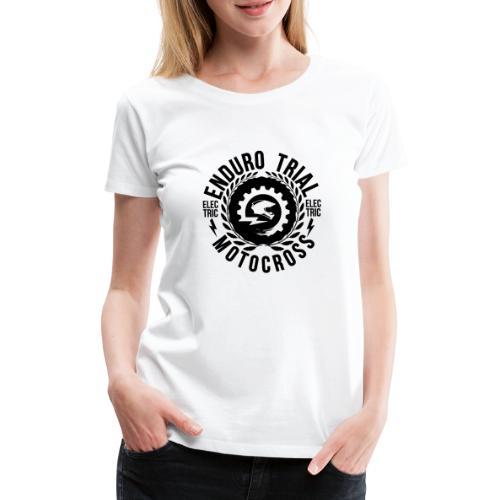 Retro Logo Black - Frauen Premium T-Shirt