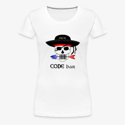 Code Bar couleur - T-shirt Premium Femme