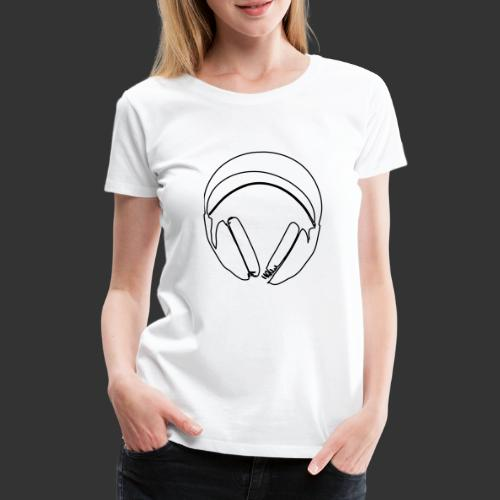Casque podradio filigranne vectorisé - T-shirt Premium Femme