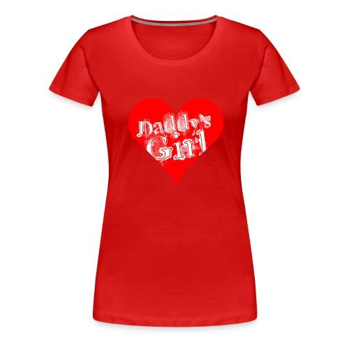 daddys_girl_red - Naisten premium t-paita