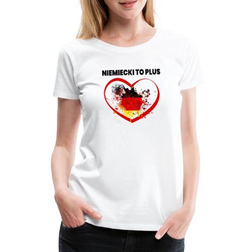 Deutsch Polen Design - Frauen Premium T-Shirt