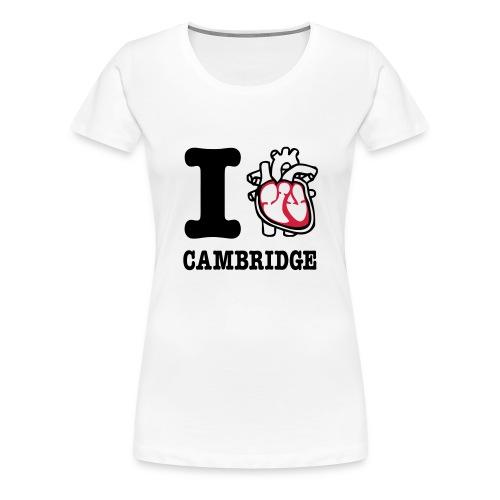 I Heart Cambridge - Women's Premium T-Shirt