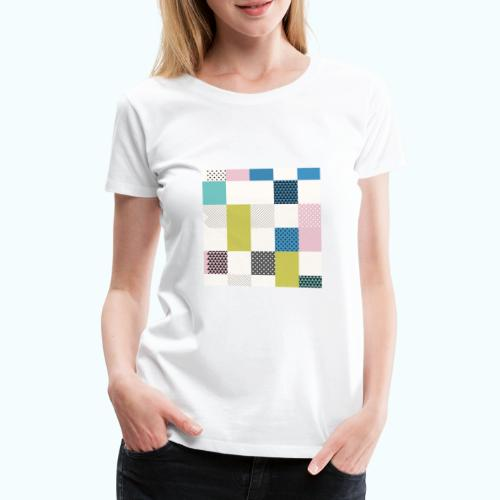Abstract art squares - Women's Premium T-Shirt